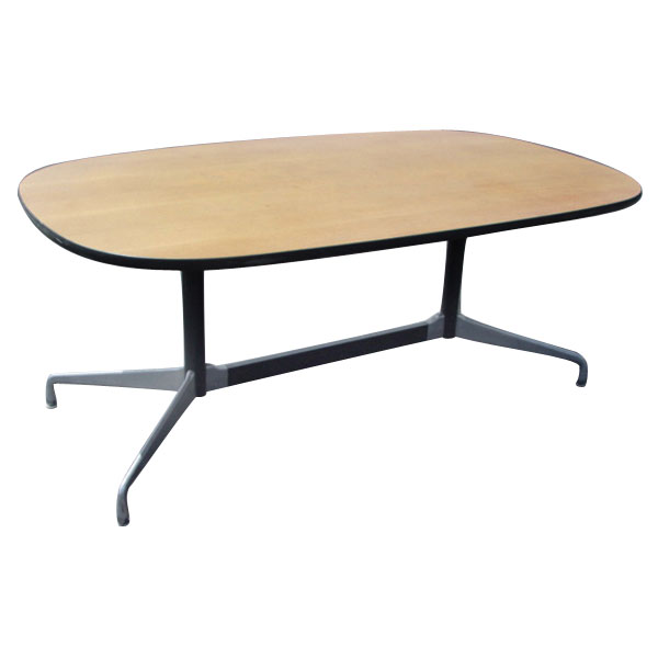 5ft x 3ft herman miller eames racetrack dining table ebay. Black Bedroom Furniture Sets. Home Design Ideas
