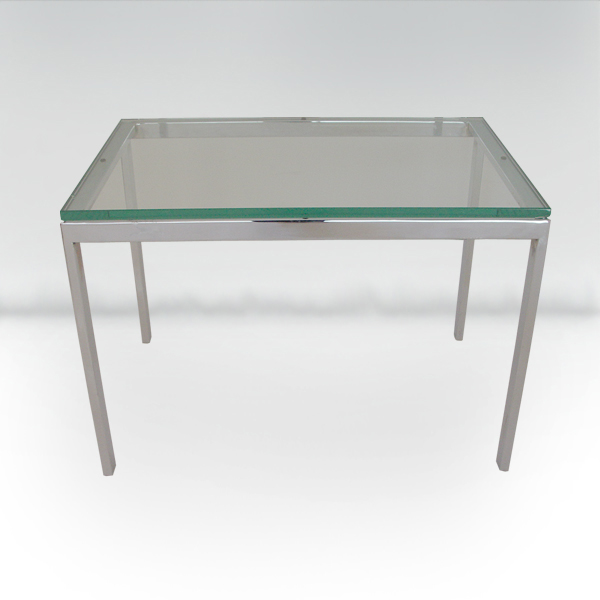 Roffman Mid Century Modern Glass Coffee Table