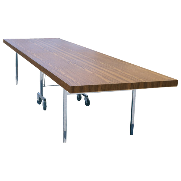 Midcentury retro style modern architectural vintage - Slim folding dining table ...