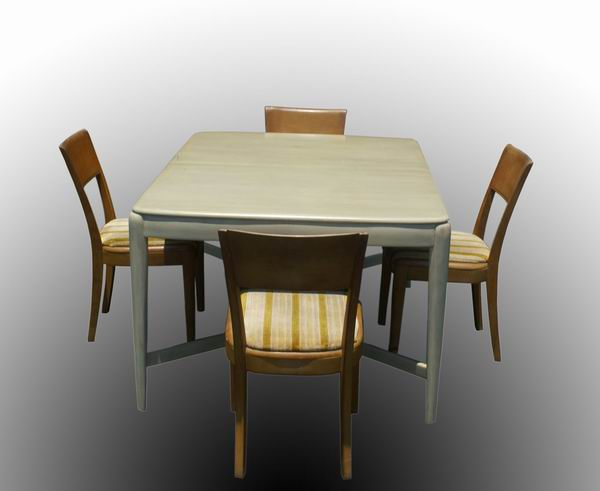 heywood wakefield dining table and dining chairs make your dining
