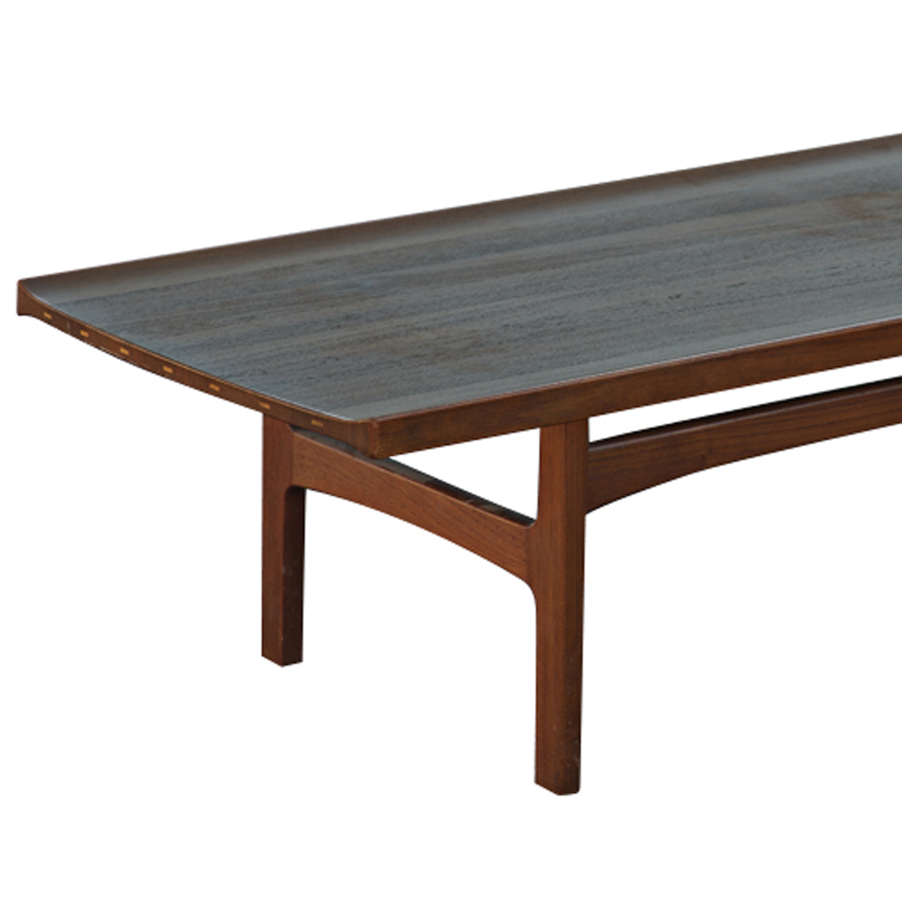 Midcentury retro style modern architectural vintage for Coffee table 72 inch