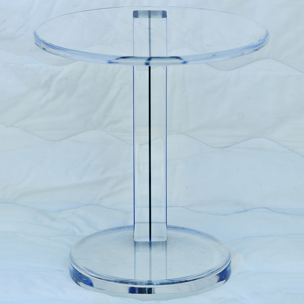 Details about Blue Acrylic Circular Nesting Side Tables
