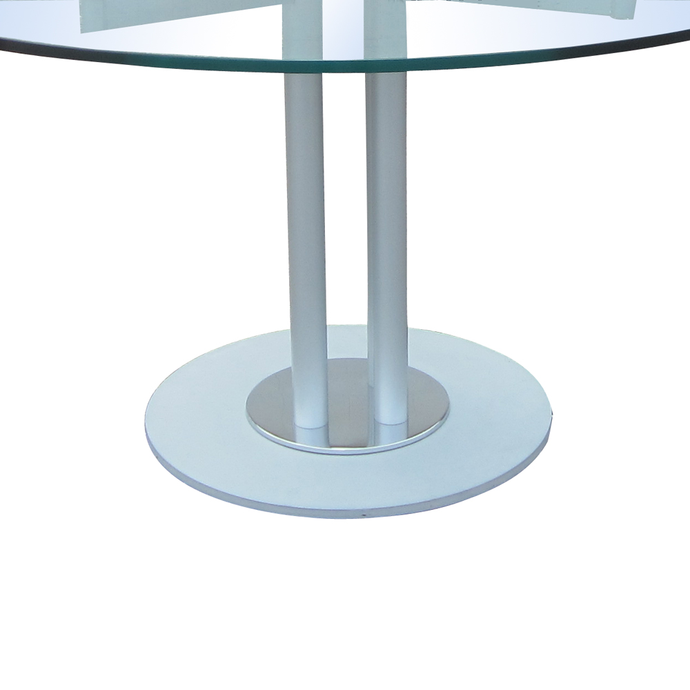 Modern Glass And Metal Circular Dining Conference Table MR12671 80 Off EBay
