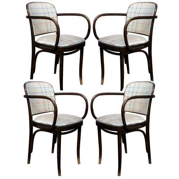 details about 4 thonet bentwood dining arm chairs