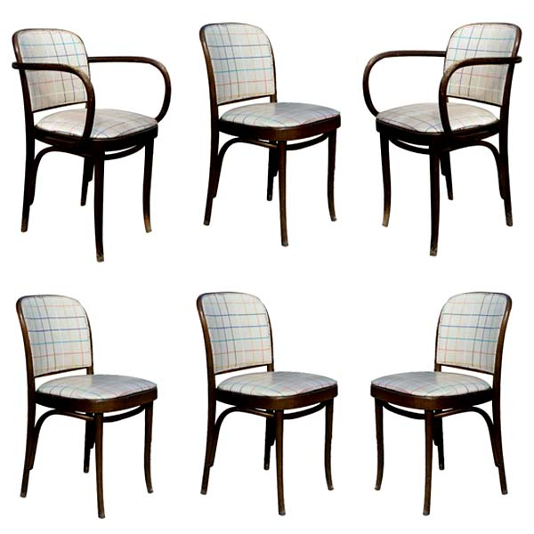 details about set 6 vintage thonet bentwood dining side arm chairs