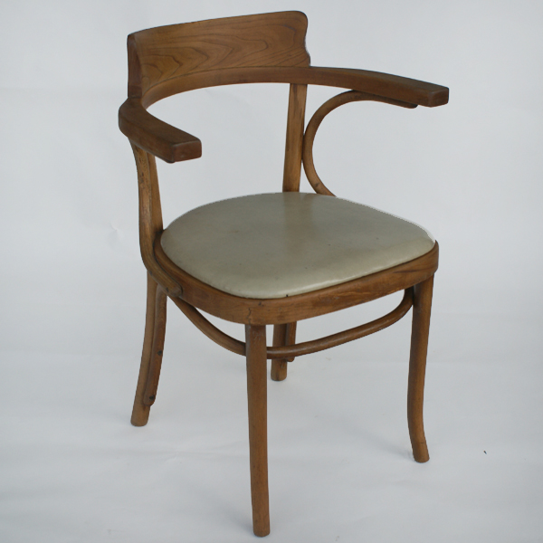vintage thonet bentwood dining side arm chair mr8479