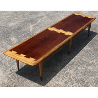 Mid Century Lane Walnut and Teak Coffee Table | eBay