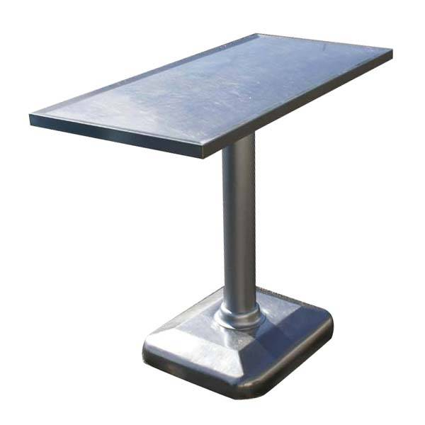 Stainless Steel Table Desk Top Chrome Pedestal Base Price Is For The Only Excellent Matching Vintage Age